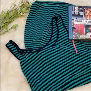 Liz Lange striped turquoiseblue Maternity dress m